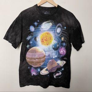 THE MOUNTAIN- Tie Dye Solar System T-Shirt